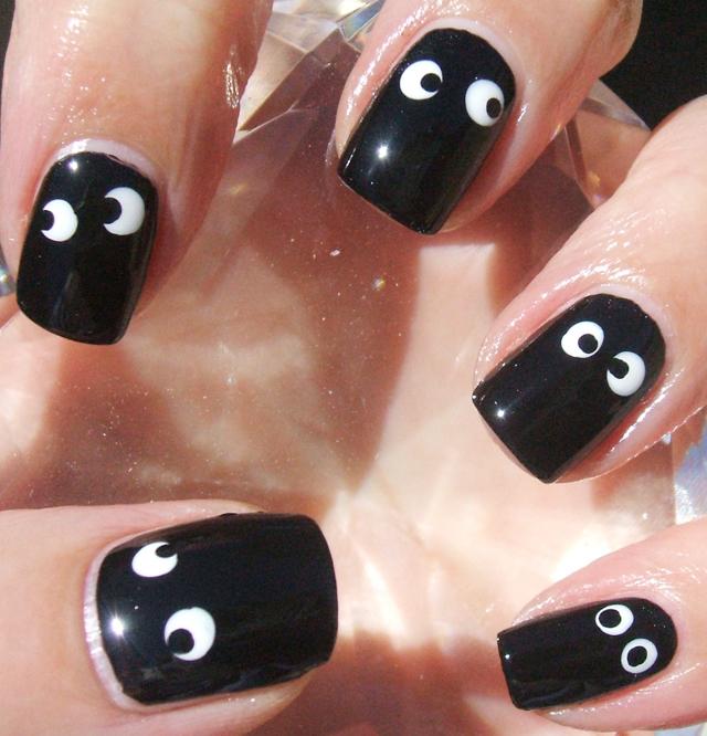 halloween googly eyes nails