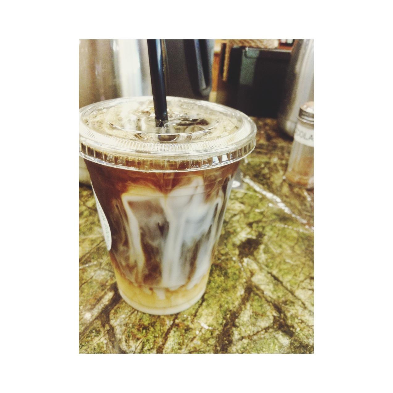 Iced Coffee + Almond Milk @ Whole Foods