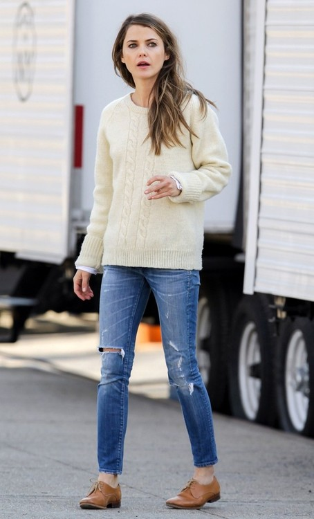 Keri-Russell-in-Fishermans-Sweater All You Need is Blush