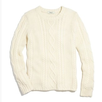 Madewell Cableknit Sweater
