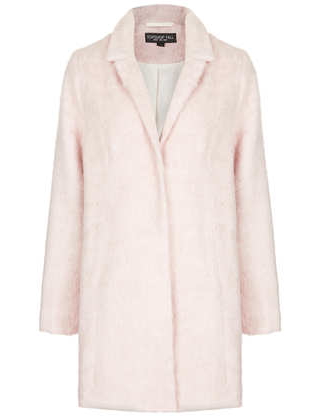 Topshop Pale Pink Coat