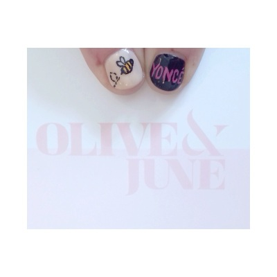a Grammy worthy Beyoncé manicure from Olive and June