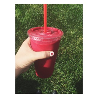 Hot Pink Drink @ Liquid Juice Bar