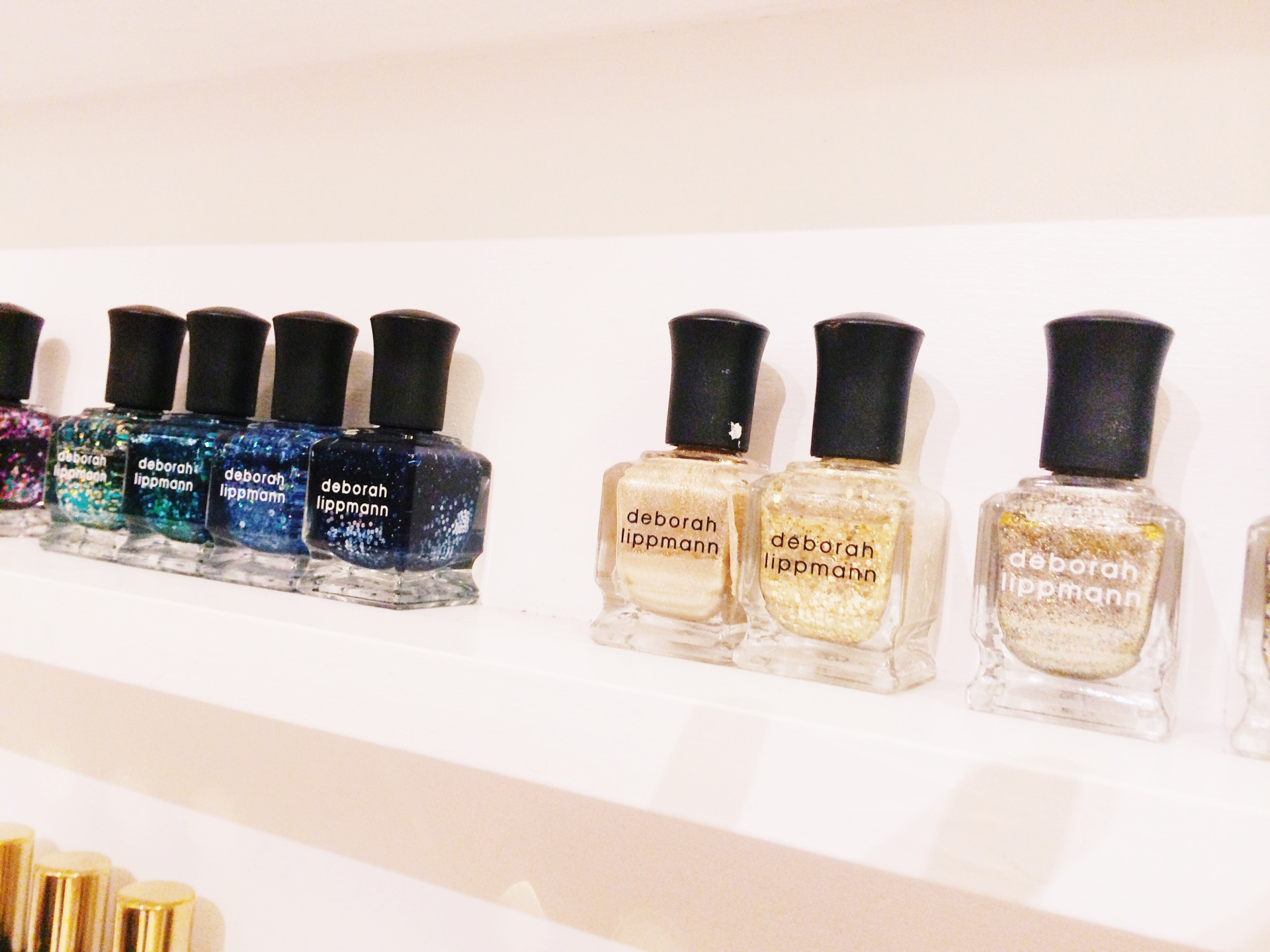 Deborah Lippmann Glitter Polishes @ Olive and June