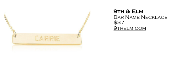 9thElm Bar Necklace