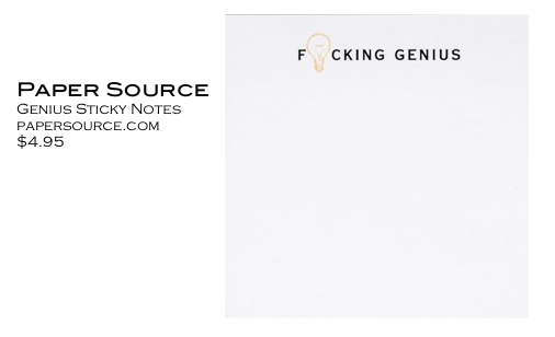 Paper Source Genius Sticky Notes