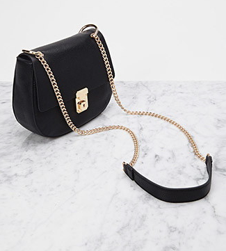 Faux Leather Lock Crossbody