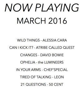 Now Playing Spring 2016